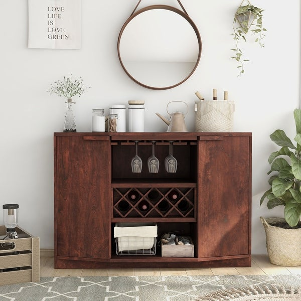 Furniture of America Towe Contemporary 51-inch Wine Bar Buffet. Opens flyout.