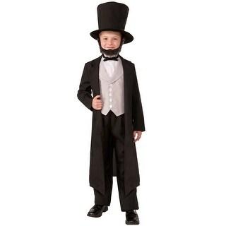 Forum Novelties Abe Lincoln Child Costume (S) - Black - Small