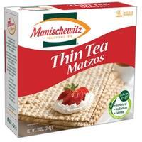 Manischewitz Thin Matzo Tea Crackers - Case of 12 - 10 oz.