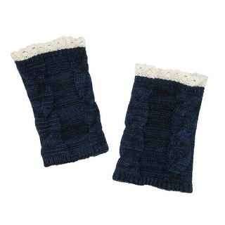 CTM® Women's Marled Lace Top Boot Cuffs