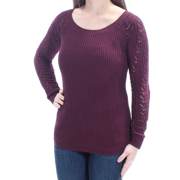 2eb8d0c0e9 Shop Womens Purple Long Sleeve Scoop Neck Sweater Size 2XS - On Sale - Free  Shipping On Orders Over  45 - Overstock.com - 21803078
