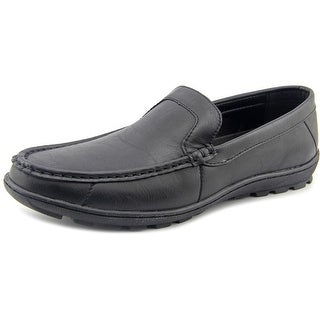 Red Label By Giovanni Kent Men  Moc Toe Synthetic Black Loafer