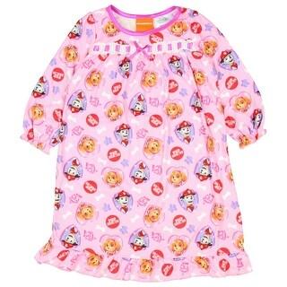 Pink Paw Patrol Toddler Girls Long Sleeve Nightgown