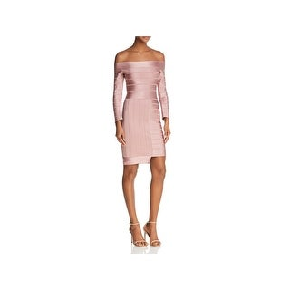 French Connection Womens Bodycon Dress Off-The-Shoulder Mini - 6