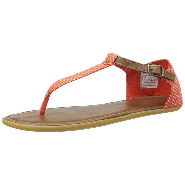 Keds Womens WF54779 Fabric Split Toe Casual T-Strap Sandals - 6