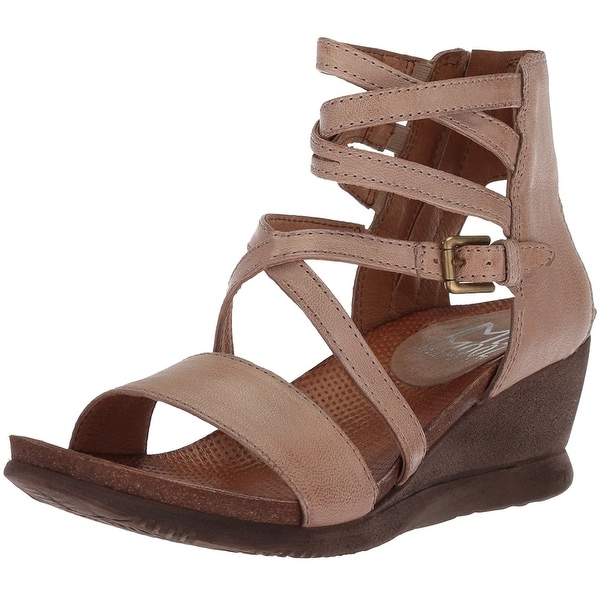 Miz Mooz Womens Shay Open Toe Casual Strappy Sandals