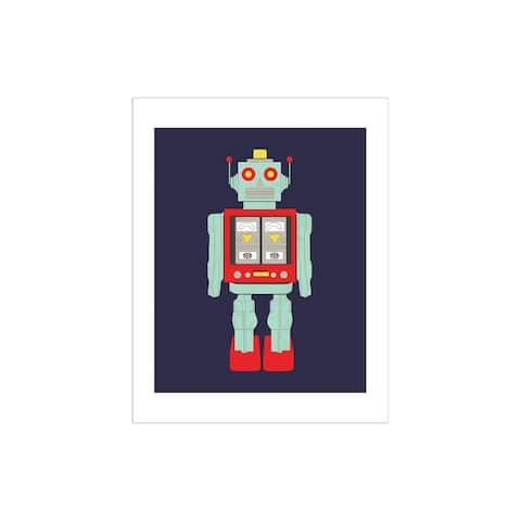 Cbsa61074 carta bella space academy art print 11x14 robot