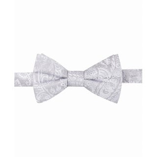 Ryan Seacrest Silver Men's One Brookshire Paisley Pre-Tied Bow Tie