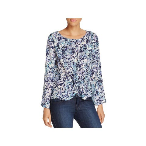 Cupcakes and Cashmere Womens Lara Blouse Bell Sleeves Day to Night