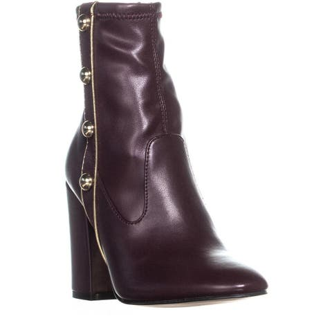 Marc Fisher Abela Studded Ankle Boots, Dark Red