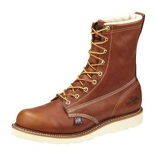 Thorogood Work Boots Mens Leather Wedges Plain Toe Tobacco 814-4364