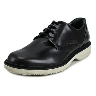 Hogan H217 Route Derby Liscio Men Round Toe Patent Leather Black Oxford
