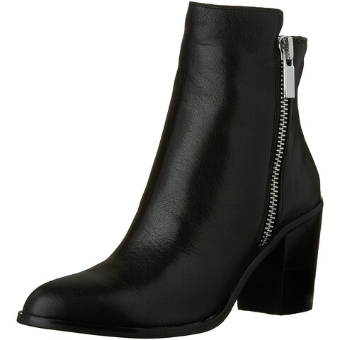 Kenneth Cole New York Womens Ingrid Leather Pointed Toe Ankle Fashion Boots - 9.5