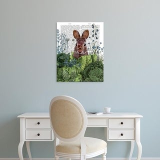 Easy Art Prints Fab Funky's 'Cabbage Patch Rabbit 6' Premium Canvas Art