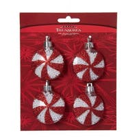 Club Pack of 48 Petite Treasures Red and White Peppermint Candy Christmas Ornaments 45mm