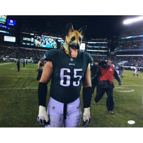 c19b4108fa1 Shop Lane Johnson Signed 16x20 Philadelphia Eagles Underdogs Photo ...