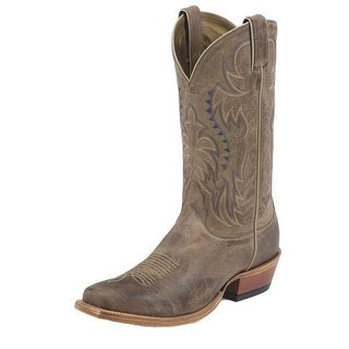 "Nocona Western Boots Mens Cowboy Leather Vintage 12"" Tan MD2711"