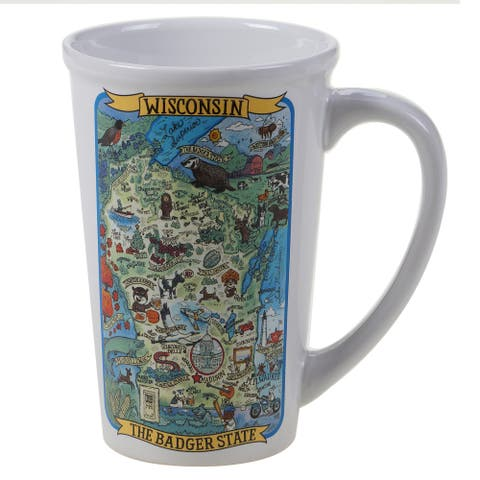 Certified International Wisconsin Souvenir Jumbo Mugs (Set of 6)