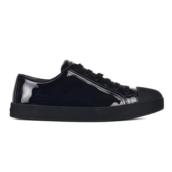 330408a528 pelle Prada nera in lucida Acquista scarpe da ginnastica donna da basse  qWSwHOARS
