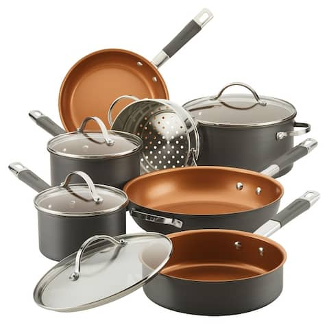 Farberware Glide Pro Hard-Anodized Nonstick Cookware Set, 11-pc