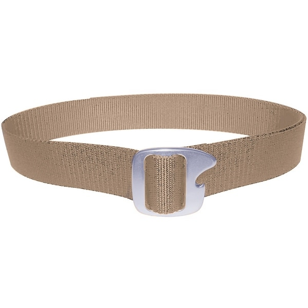 Bison Designs Tap Cap Gunmetal Buckle Bottle Opener Belt - Desert Sand