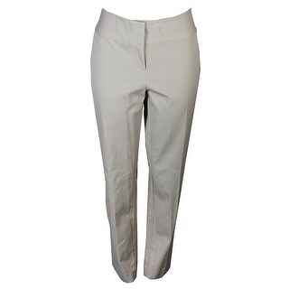 Alfani Plus Size Beige Straight-Leg Pants 14W