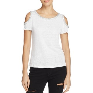 Generation Love Womens Casual Top Jeweled Cold Shoulder - m