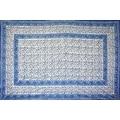 Handmade Floral Rajasthan Block Print Tablecloth 100% Cotton Rectangular Square Round Napkins - Thumbnail 14