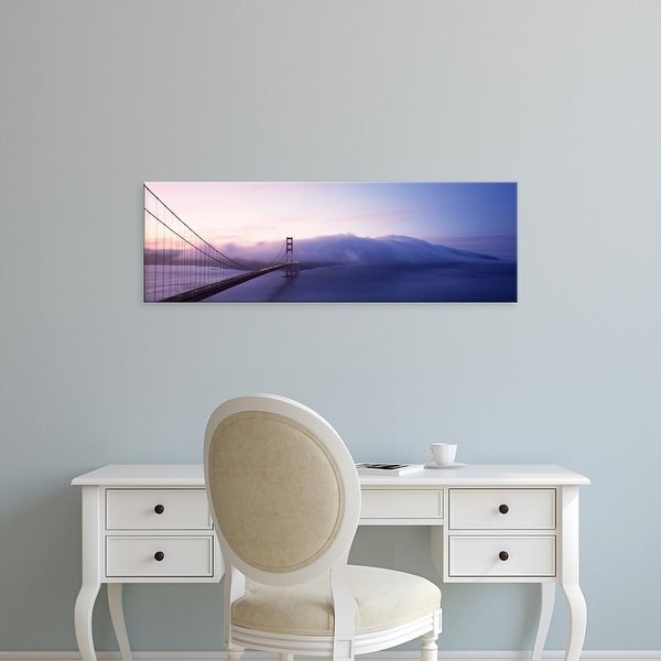 Easy Art Prints Panoramic Image 'Bridge across the sea, Golden Gate Bridge, San Francisco, California' Canvas Art