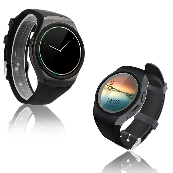 Indigi® A18 Bluetooth Sync (iOS & Android Compatible) SmartWatch & Phone + Heart Monitor + Pedometer + Sleep Monitor