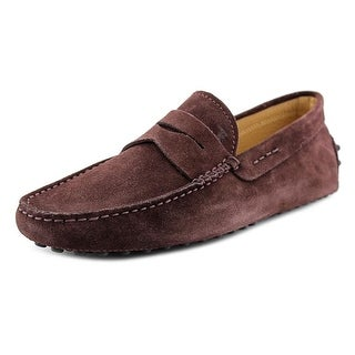 Tod's Mocasino Gommini Nuovo Youth Square Toe Leather Brown Loafer