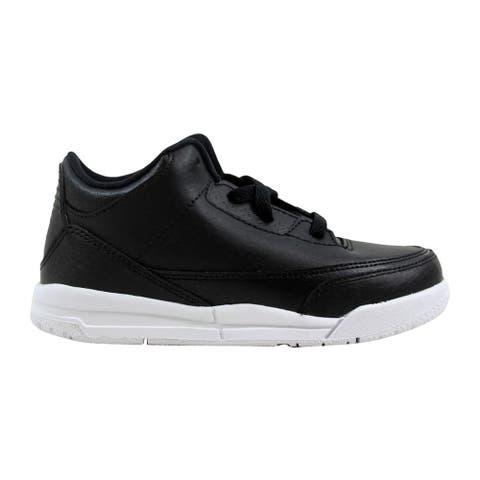 ddfd319e5f84 Nike Air Jordan III 3 Retro BT Black Black-White 832033-020 Toddler