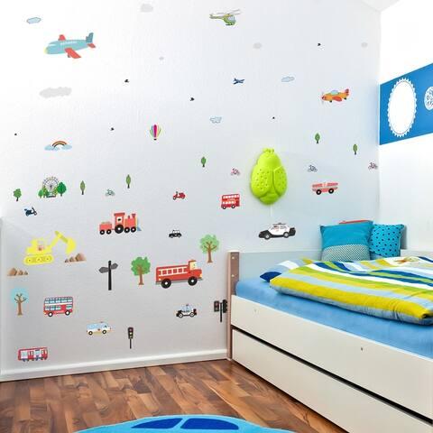 Walplus Kids Transportation Wall Stickers Decals DIY Art Nursery Decor