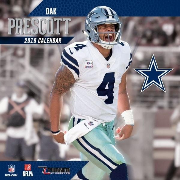 Shop 2019 NFL Dak Prescott Wall Calendar d6de7e309