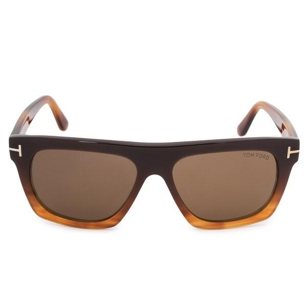 5848d28e2b Shop Tom Ford Ernesto-02 Wayfarer Sunglasses FT0592 50E 55 - Free ...