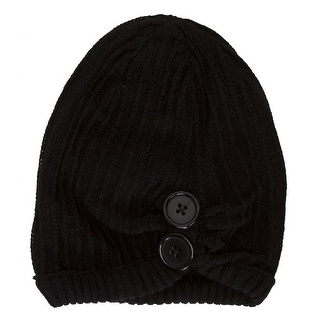 Womens Fashion Button Beanie