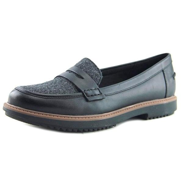 a0b7f77dd9a Shop Clarks Raisie Eletta Women Round Toe Leather Black Loafer ...