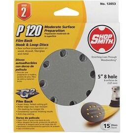 "Shop Smith 15Pk 5"" 120G Sand Disc"