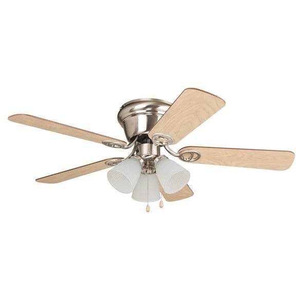 "Ellington Fans Wyman 42"" 5 Blade Indoor Hugger Ceiling Fan with Bowl Shaped Light Kit"