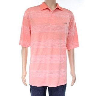 Greg Norman for Tasso Elba NEW Orange Coral Mens Size XLT Polo Shirt