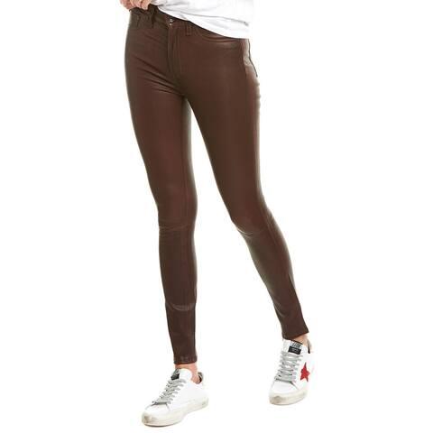 Rag & Bone Mahogany Leather Skinny Leg