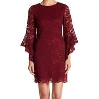 Laundry by Shelli Segal Red Women's Size 2 Lace Sheath Dress