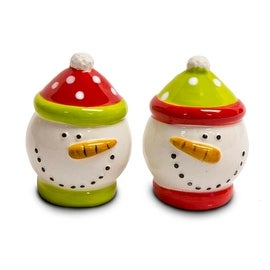 Silvestri Snowmen Salt and Peppers Shakers