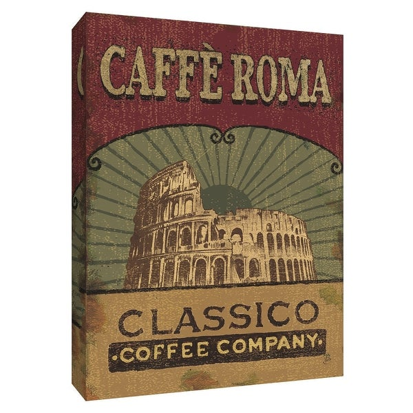 """PTM Images 9-154487 PTM Canvas Collection 10"""" x 8"""" - """"Coffee Blend Label I"""" Giclee Signs Art Print on Canvas"""