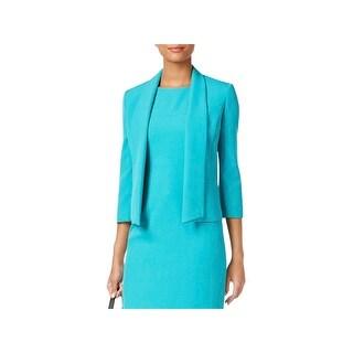 Kasper Womens Open-Front Blazer Shawl-Collar Professional
