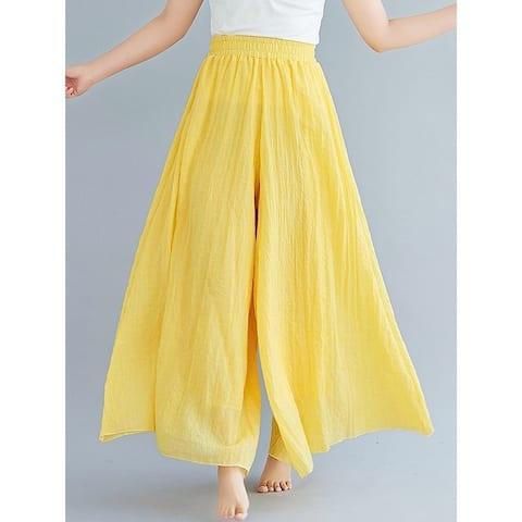 8 Colors Linen Super Loose Wide-Leg Casual Pants
