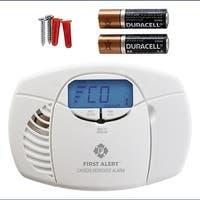 First Alert CO410 Battery-Op Carbon Monoxide Alarm w/ Backlit Digital Display