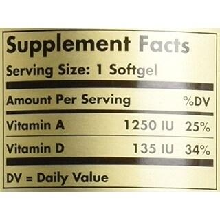 Solgar Cod Liver Oil Softgels (Vitamin A & D Supplement) 250