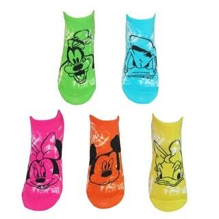 Disney Tie Dye Minnie Mouse No Show Socks (5 Pair Pack)