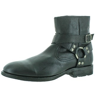 Frye Ethan Harness Men's Buffalo Leather Ankle Boots
